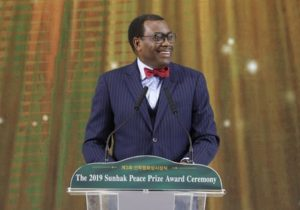 """""""We are in a race with time to unlock Africa's full potential"""" –   Akinwumi Adesina, 2019 Sunhak Peace Prize Laureate"""
